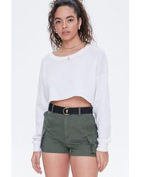 Forever 21 Twill Cargo Shorts - Green