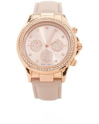 Forever 21 - Rhinestone Faux Leather Watch - Lyst