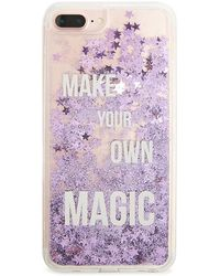 Forever 21 Make Your Magic Waterfall Phone Case For Iphone 6/7/8 Plus , Clear/purple - Multicolour