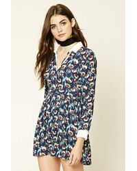 Forever 21   Collared Floral Print Dress   Lyst