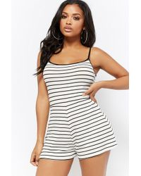 Forever 21 - Ribbed Striped Romper - Lyst