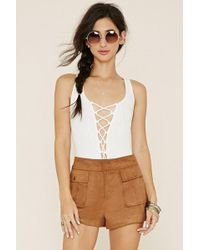 Forever 21 - Faux Suede Shorts - Lyst