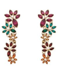 Forever 21 - Tiered Floral Drop Earrings - Lyst