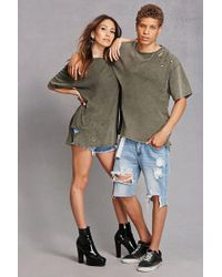 Forever 21 - Private Academy Distressed Tee - Lyst