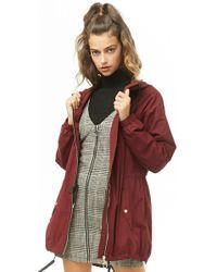 Forever 21 - Longline Hooded Jacket - Lyst