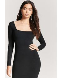 Forever 21 - Square Neck Bodycon Dress - Lyst
