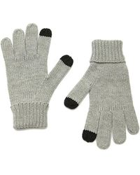Forever 21 Purl Knit Touchscreen Gloves , Heather Grey - Gray