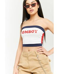 Forever 21 - Colorblock Tomboy Tube Top - Lyst