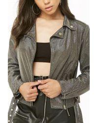 Forever 21 - Metallic Moto Jacket - Lyst