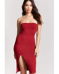 Semi sheer maxi tube dress