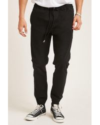 Forever 21 - Twill Drawstring Joggers - Lyst