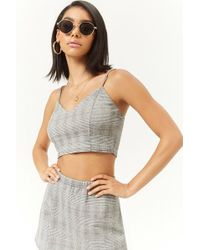 Forever 21 - Glen Plaid Crop Cami - Lyst