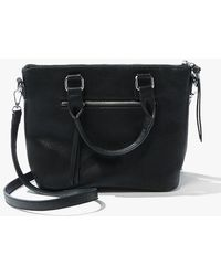 Forever 21 Leather Tote Bag , Black