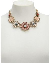 Forever 21 Women's Rhinestone Floral Statement Necklace
