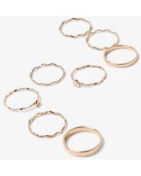 Forever 21 Assorted Ring Set , Gold - Metallic