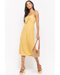 Forever 21 - Knotted Tube Dress - Lyst
