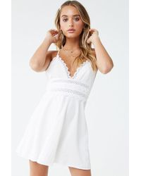 Forever 21 - Embroidered Lace Dress - Lyst