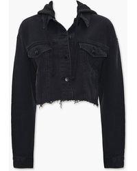 Forever 21 Denim Hooded Jacket - Black