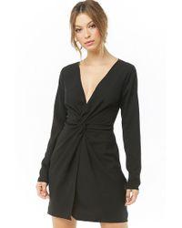 Forever 21 Twist-front Mini Dress , Black