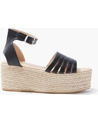 Forever 21 Caged Wicker Wedges - Black
