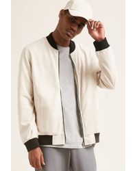 Forever 21 - Faux Suede Bomber Jacket - Lyst