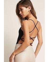 Forever 21 - Ribbed Crisscross-back Bodysuit - Lyst