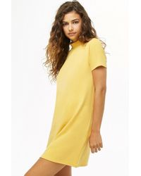 Forever 21 - Mock Neck Mini T-shirt Dress - Lyst