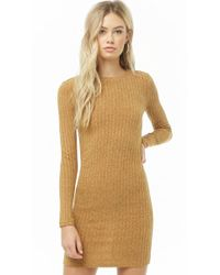 Forever 21 - Ribbed Sweater Dress - Lyst