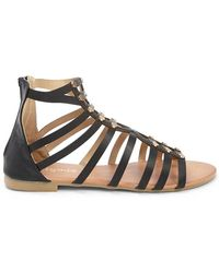 Forever 21 - Faux Leather Studded Gladiator Sandals - Lyst