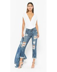 Forever 21 - Women's Distressed Straight-leg Jeans - Lyst