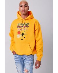Forever 21 Ac/dc Tour 1981 Graphic Hoodie - Yellow