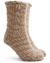 Forever 21 - Faux Shearling Lined Crew Socks - Lyst