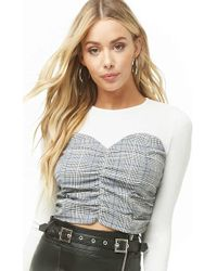 Forever 21 - Glen Plaid Combo Top - Lyst