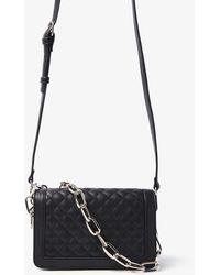 Forever 21 Quilted Shoulder Handbag , Black