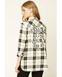 Forever 21 - Rock N Roll Check Shirt - Lyst