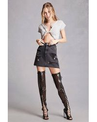Forever 21 - Clear Thigh-high Lucite Boots - Lyst