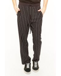 Forever 21 - Pinstriped Drawstring Trousers - Lyst