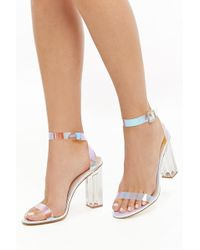Forever 21 Iridescent Block Heels , Clear - Multicolour
