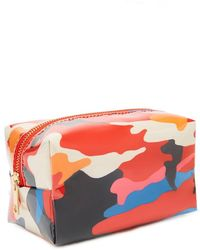 Forever 21 Camo Print Makeup Bag - Red