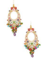Forever 21 - Floral Drop Earrings - Lyst