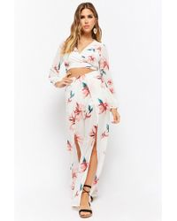 Forever 21 - Floral Crop Top & Trousers Set - Lyst