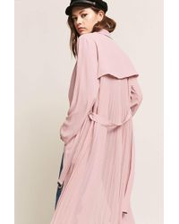 Forever 21 - Woven Accordion-pleat Duster Jacket - Lyst
