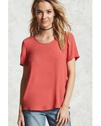 Forever 21 - Crepe Woven Blouse - Lyst