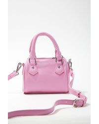 Forever 21 Convertible Zip-top Crossbody Bag - Pink