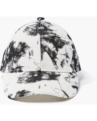 Forever 21 Bleached Wash Dad Cap - White