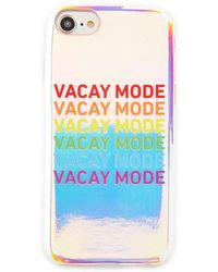 Forever 21 Vacay Mode Graphic Case For Iphone 6/7/8 , Silver/multi - Multicolour