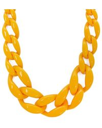 Forever 21 Chunky Chain Statement Necklace , Mustard - Multicolour