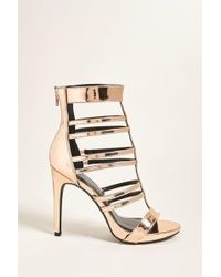 Forever 21 Caged Faux Patent Leather Heels - Multicolor
