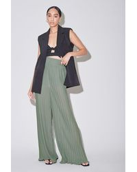 Forever 21 Pleated Palazzo Pants - Green