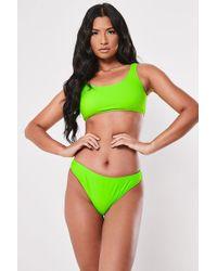 Missguided - Neon Bikini Bottoms At - Lyst